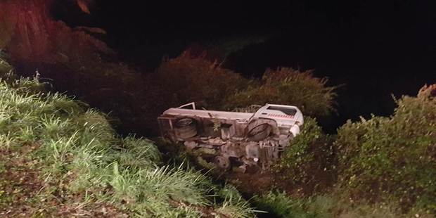 Scene of the crash. Photo / Supplied