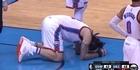 Watch: Watch: Steven Adams kicked in the groin