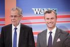 Alexander Van der Bellen, presidential candidate of Austria's Green Party, left, and Norbert Hofer, presidential candidate of Austria's Freedom party. Photo / Bloomberg photo by Lisi Niesner
