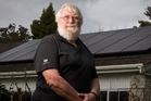 Rotorua's Alan Dick says ever-increasing electricity prices are one of the reasons he installed a solar energy system. Photo / Stephen Parker