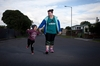 PROUD: Alex Fraser and son Eli, 4, are happy Merivale residents. PHOTO/ANDREW WARNER