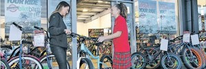 REPLACED: Maia Colman-Savage, 12, has a new bike after Bike Barn manager Jess Smith leapt to replace her stolen one.