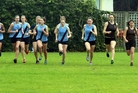 POWERING THROUGH: The senior girls start their 4km race at the Wanganui Collegiate grounds on Thursday. PHOTOS/STUART MUNRO