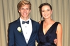 CLASSIC LOOK: Luke Fraser, 17, with his ball partner Marnie Hunter, 17. PHOTO/SUPPLIED