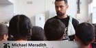 Watch: Kids try out Michael Meredith's new cooking school