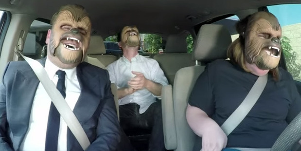 What happens when you put three Wookies in one car? Madness.