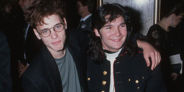 Child stars Corey Haim and Corey Feldman. Photo / Getty Images