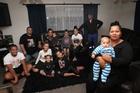 Brenda Wainohu (front) holding grandson Justin Edwards, says