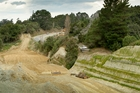 Development on the new road and culvert to replace the 90-year-old Whakaruatapu Bridge, known by locals as