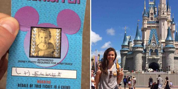 Walt Disney World honoured the remaining day on the four day pass, despite its age. Photo / Chelsea Herline