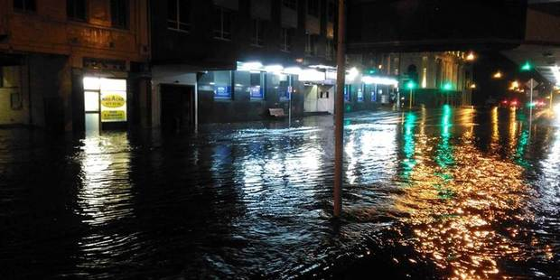 Loading Flooding on Rattray St, Dunedin. Photo / Supplied