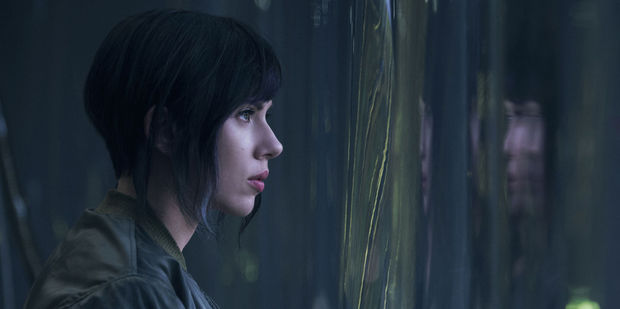 Scarlett Johansson in the only image released so far from her upcoming film Ghost in the Shell.