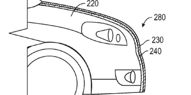 The Google patent describes an adhesive layer beneath an outer shell. Photo / US Patent and Trademark Office via Washington Post