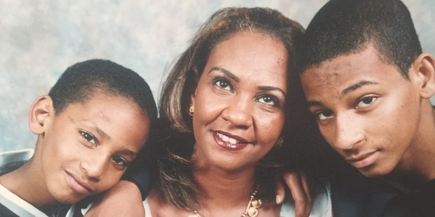 Then-15-year-old El Shafee Elsheikh, right, seen with his mother and younger brother Mahmoud. Photo / Family photo