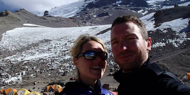 Maria Strydom and her husband Rob Gropel were attempting to climb the seven summits, the highest peaks on the seven continents. Photo / Facebook