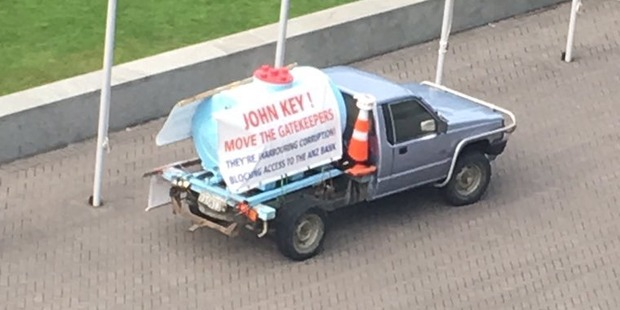 Loading The vehicle at the centre of the security alert at Parliament. Photo / Jacinda Ardern Twitter