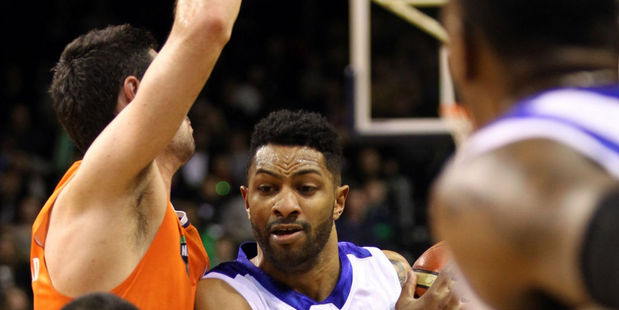 Dion Prewster attacks the Southland Sharks defence. Photo / Getty