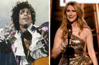 Prince used to ask advice from Celine Dion. Photos / Getty Images, AP