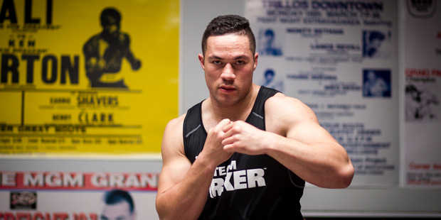 Loading Boxer Joseph Parker training at the Drilltech gym in East Tamaki. Photo /  Dean Purcell.