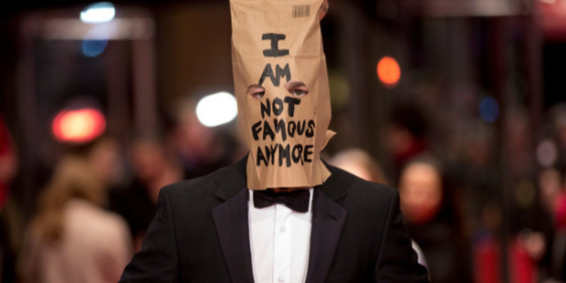 Actor Shia LaBeouf poses for photographers on the red carpet for the film Nymphomaniac in Berlin. Photo / AP