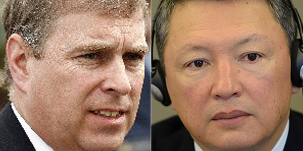 Leaked emails have revealed Prince Andrew, left, was involved in the 2007 sale of Sunninghill Park to Timur Kulibayev, despite previous claims he 'played no part' in the deal.
