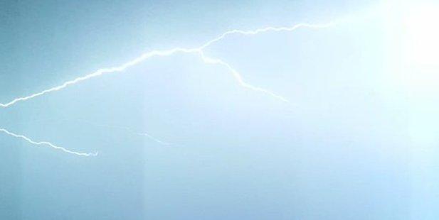 Loading Lightning lights up the sky above Wellington. Photo / imranhere2 Twitter