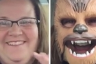 Thanks to a Chewbacca mask and an infectious laugh, a woman has become an internet hit after she filmed herself trying on a Star Wars mask. Source: Facebook / Candace Payne
