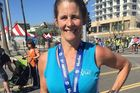 Maria Korcsmaros who was bitten by a shark at Newport Beach, California. Photo / Facebook