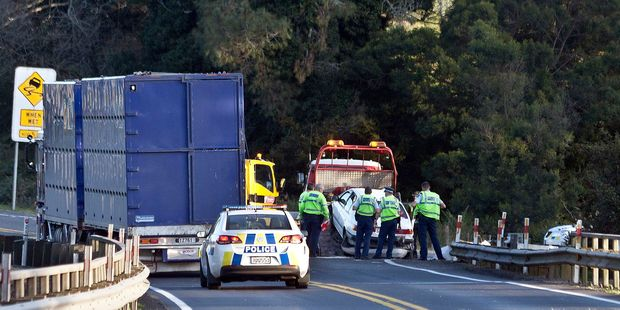 Loading Crash on the Kaimai Range. Photo/Andrew Warner