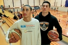 Hawke's Bay basketballers Jershon Tatana (left) and Amariah Luki ponder their futures in the United States. Photo / Warren Buckland