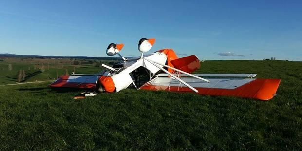 The light plane crashed at Pukehina. Photo / Supplied