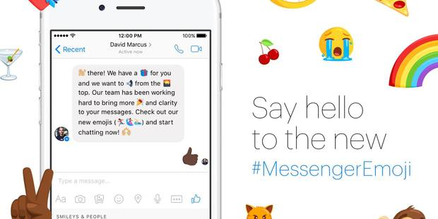 Facebook said the new emojis will be available around the world from tomorrow. Photo / Facebook