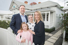 Breadwinner and advertising executive Craig McCann, with wife Luci McCann and daughters, Isla, 8, and Evie, 11, at their Herne Bay home. Picture / Nick Reed