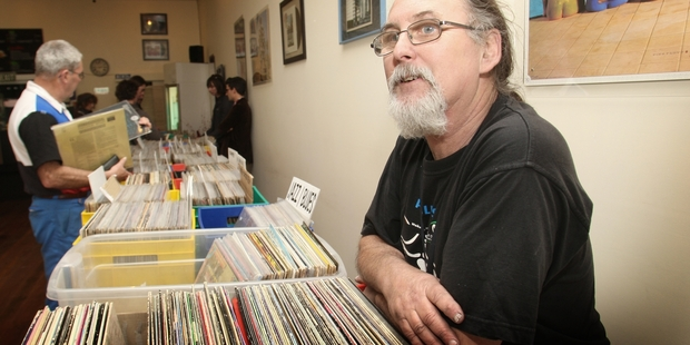 AUTHENTIC SOUND: Brian Wafer has been collecting vinyl for 51 years and is bringing his record fair to Whanganui this weekend. PHOTO/ BEVAN CONLEY