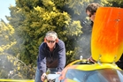 NO CUP: Warwick and Ken Lupton working on one of their hydroplanes. The Luptons' protest over the EC Griffith Cup loss in Victoria at the start of the month was not upheld on Friday.PHOTO/FILE