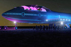 A rendering of the Boeing 747 at night. Photo / Big Imagination