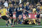 Brendon Edmonds in action for the Highlanders during last year's Super Rugby final. Photo / Darren Taumata