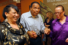 Muhammad Ali with his sister in-law Marilyn Williams, left, and wife Lonnie. Photo / AP
