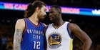 Watch: Watch : Steven Adams dunks on Draymond Green