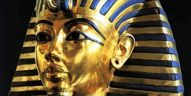 The death mask of King Tutankhamun.
