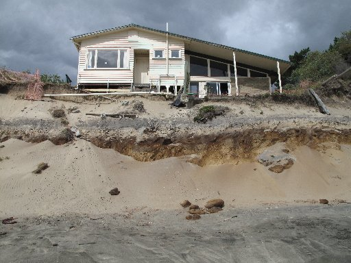 The old Hokianga visitors' information centre was a victim of coastal erosion some years ago. Photo / Peter de Graaf