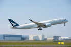 Cathay Pacific's new Airbus A350XWB - due to be officially unveiled tonight.