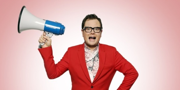 Alan Carr for his comedy show Yap, Yap, Yap!