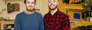 Ben Barker and Sam Hill, the creators of the exercise-based gaming app, Run An Empire.