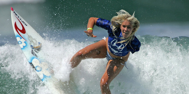 Loading ONE-armed Hawaiian wildcard Bethany Hamilton's dream run at the Fiji Pro came to an end in the semi-finals. Photo / Getty Images.