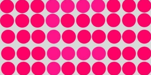 There's a letter hidden among these dots. Can you see what it is? Photo / PlayBuzz