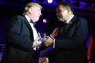 Donald Trump and Muhammad Ali during Muhammad Ali's Celebrity Fight Night XIII. Photo / Getty Images