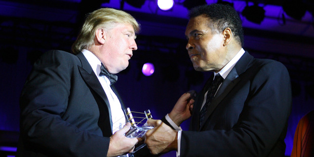 Loading Donald Trump and Muhammad Ali during Muhammad Ali's Celebrity Fight Night XIII. Photo / Getty Images