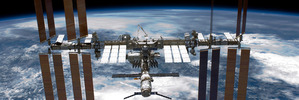 The International Space Station will live chat Mark Zuckerberg tomorrow afternoon. Photo / NASA