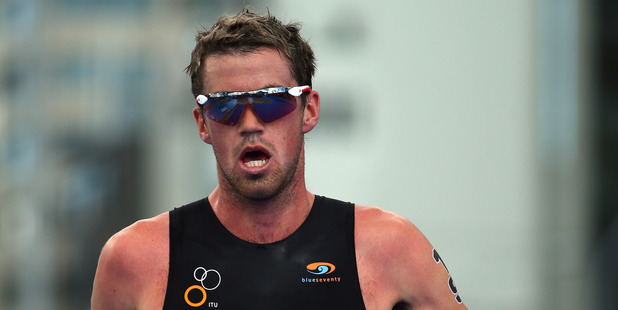 Tony Dodds during the ITU World Triathlon Men's Race in Auckland. Photo / Getty Images